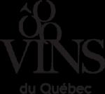 Vins du Québec | Logo noir transparent détouré