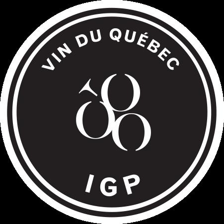 Vins du Québec | Logo noir et blanc de la certification IGP