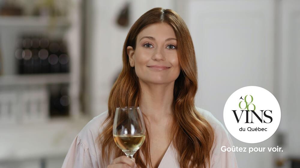 Vins du Québec | Campagne Katherine Levac