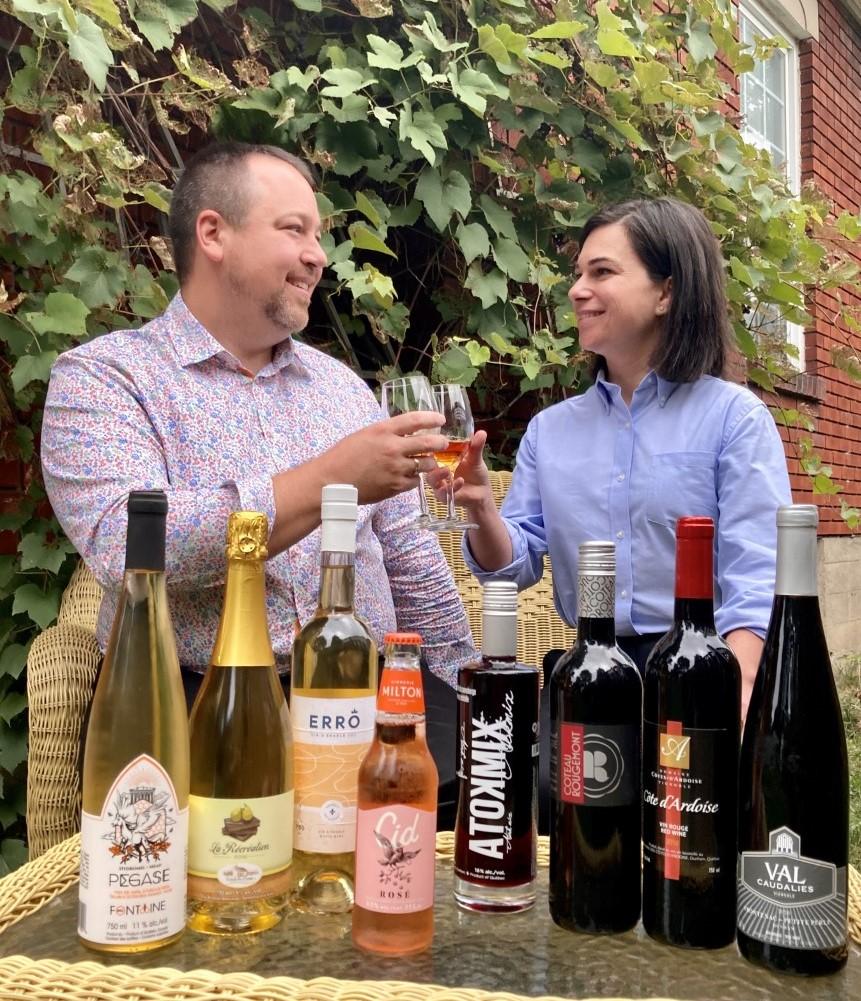Julie Bourdon et Samuel Gosselin - 12 septembre je déguste un vin québécois
