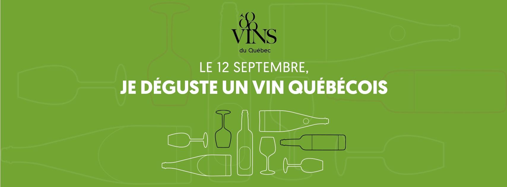 12 septembbre je déguste un vin québécois
